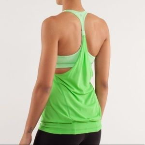 Lululemon Practice Freely Tank Top in Frond Size 4